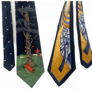 LOT OF 2 Dion 100% Silk Novelty Neck Ties Canada